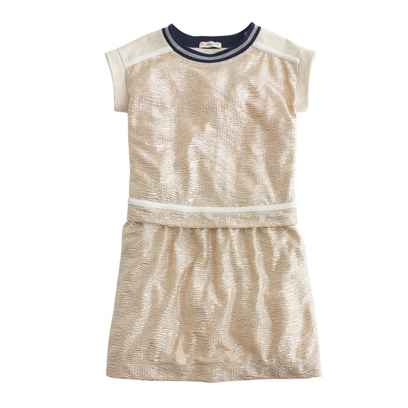 c8c6c7ecd73 Crewcuts Other - J Crew crewcuts girls golden Shimmer Dress 12
